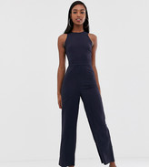 Fashion Union Tall wide leg jumpsuit with cut out back