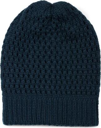 styleBREAKER Knit Beanie with Hole Pattern Long Slouch Winter Beanie Knit hat Unisex 04024139