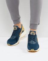 Nike Huarache Run Premium Sneakers In Blue 852628-401