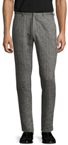 Shades of Grey by Micah Cohen Linen Woven Suit Trousers