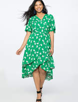 Wrap Dress with Layered Skirt