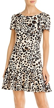 Betsey Johnson Ruffled Leopard Print Dress