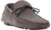 Bertie Benzel Woven Laced Driving Loafers, Grey