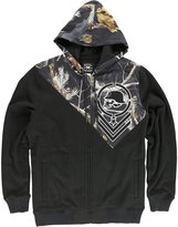 Metal Mulisha Men's Hidden Full Zip Hoodie-XL