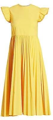 RED Valentino Women's Pleated Poplin Dress