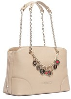 Moschino Jc4071 0209 Taupe Satchel/shoulder Bag.
