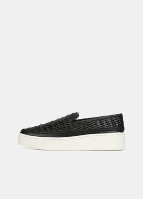 Vince Woven Leather Stafford Sneaker