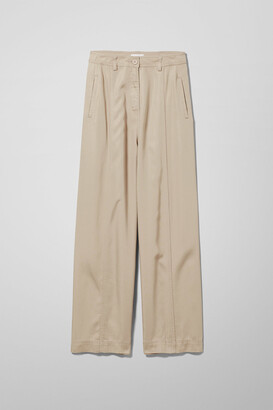 Weekday Caila Trousers - Beige