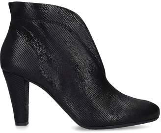 Carvela Croc-Embossed Leather Rida Ankle Boots 80