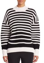 Opening Ceremony Merino Wool Blend Striped Sweatshirt