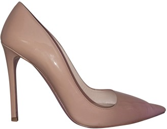 Prada Beige Patent leather Heels