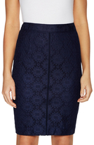 Ava & Aiden Lace Inset Pencil Skirt