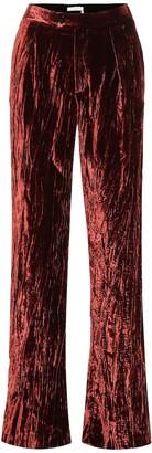 Chloã© High-rise wide-leg velvet pants