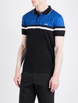 HUGO BOSS Slim-fit striped jersey polo shirt