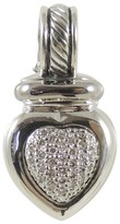 David Yurman 925 Sterling Silver .50tcw Pave Diamond Heart Enhancer