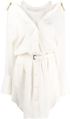 Alexander Wang open collar shirt dress