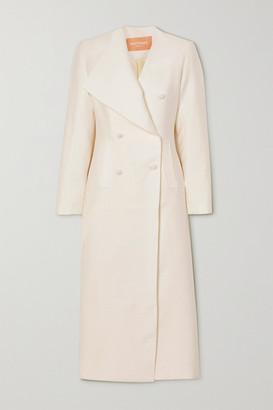 MATÉRIEL Double-breasted Cloque Coat - White