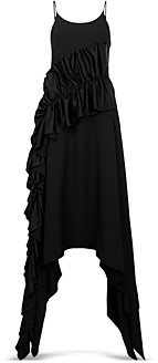 Christopher Kane Ruffled Handkerchief Hem Dress