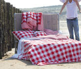 Bell & Blue Red Check Duvet Set