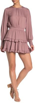 Do & Be Tiered Smocked Cuff Mini Dress