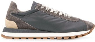 Brunello Cucinelli Printed Lace-Up Sneakers