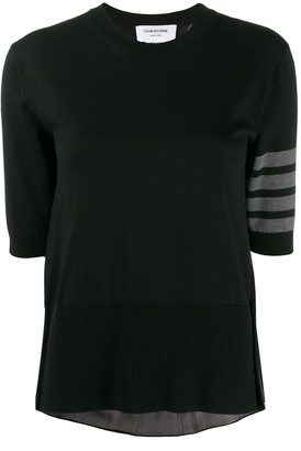 Thom Browne 4-Bar Detail Knitted Top