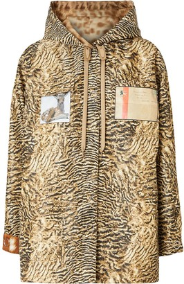 Burberry Tiger Print Lightweight Hooded Jacket