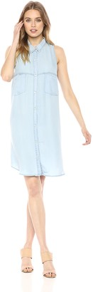 BB Dakota Women's Brantley Chambray Shirt Dress Small