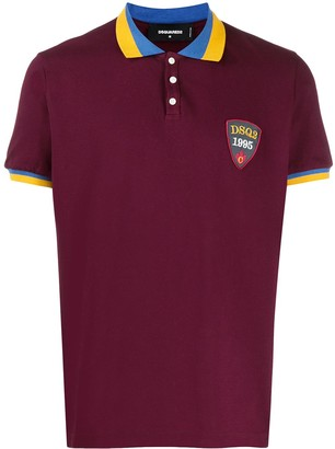 DSQUARED2 Badge-Applique Short-Sleeved Polo Shirt