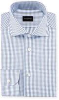 Ermenegildo Zegna Three-Line Check Dress Shirt