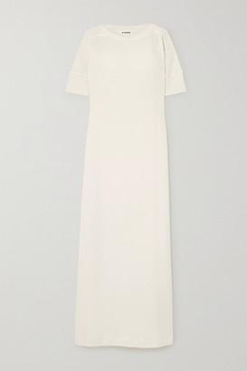 Jil Sander Cotton-jersey Maxi Dress - Cream