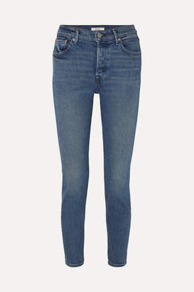 GRLFRND Karolina High-rise Skinny Jeans - Dark denim