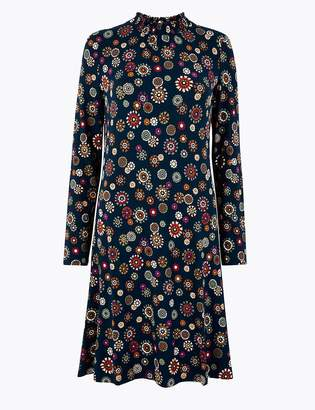 M&S CollectionMarks and Spencer Floral Print Jersey Swing Dress