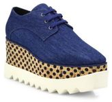 Stella McCartney Elyse Denim Platform Oxfords