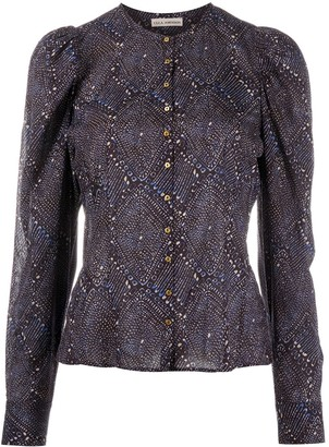 Ulla Johnson Odele diamond-print blouse