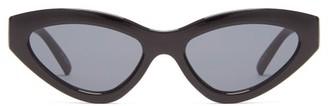Le Specs Synthcat Cat-eye Acetate Sunglasses - Black