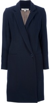 Anne Valerie Hash Avhash By tuxedo coat Dark marine classic wool