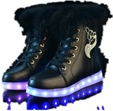 Unknown 2016 New Hot Sale Fashion LED Light Inside Shoes Luminous USB charging colorful women casual Sneakers winter ankle snow boots (8.5, )
