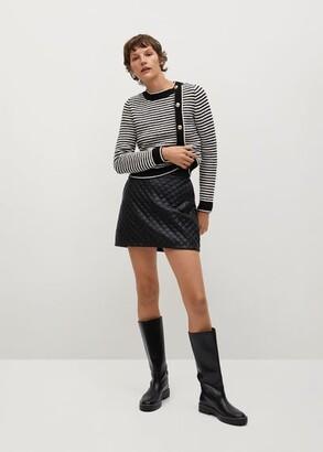 MANGO Miniskirt quilted