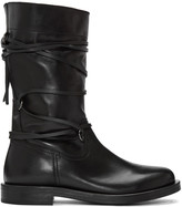 Diesel Black Gold Black Lace Around Boots