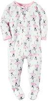 Carter's Baby Girl Printed Footed Pajamas