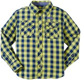 Buffalo Plaid Woven Shirt (Kid) - Navy/Yellow-6