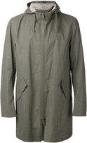 Herno long sleeve hooded jacket - men - Cotton/Linen/Flax - 46