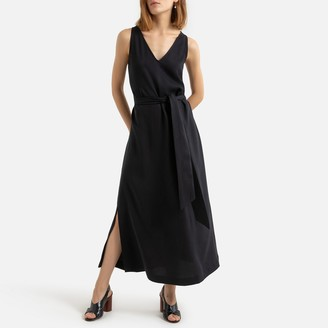 La Redoute Collections Sleeveless Maxi Dress with Tie-Waist