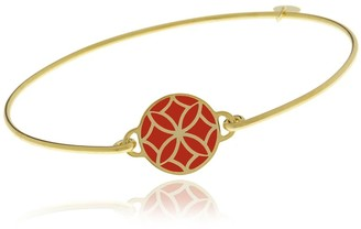 Georgina Jewelry Signature Day Of The Week Limited Edition Bracelet Orange Flower Resin Button