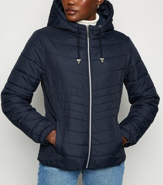 New Look Lightweight Hooded Puffer Jacket