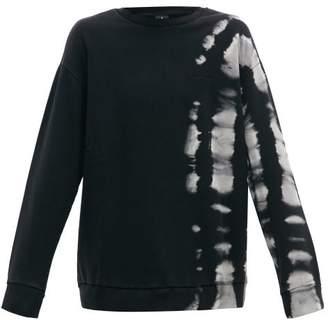 Marcelo Burlon County of Milan Tie-dye Cotton-jersey Sweatshirt - Mens - Black White