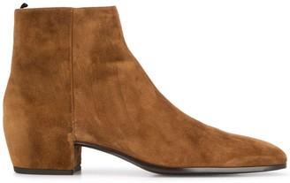 Saint Laurent Zipped Ankle Boots