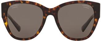 Chanel Round Frame Cat Eye Sunglasses