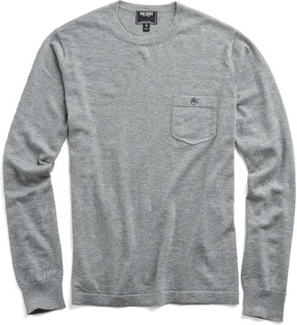 Todd Snyder Italian Cashmere T-Shirt Sweater in Grey Heather